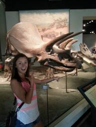 Dinosaur exhibit - cute girls on display too!