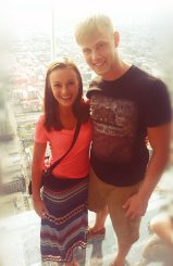 Nicole and I on the Skydeck