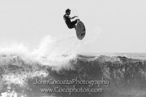 A surfer catching big air: Copyright John Cocozza cocophotos.com