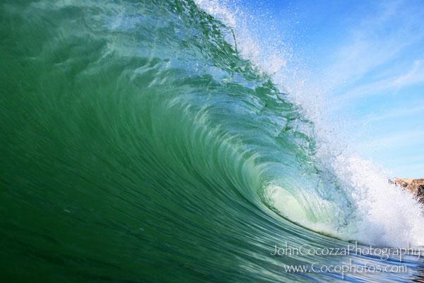 Image of a wave breaking: Copyright John Cocozza cocophotos.com